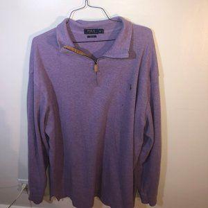 Men's Purple Polo Ralph Lauren QuarterZip Pullover
